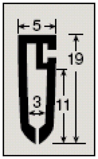 画像3: [メール便不可] カレンダーハンガーD2型 257mm 吊具付き 50セット